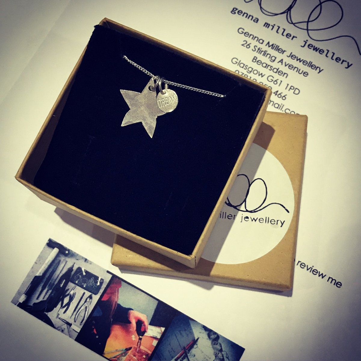 Lovely little piece headed out to make someone smile. ☺️⭐💭 #makeandcreate #shoplocal #smallbusiness #jeweller #scottishjeweller #makingjewellery #handmade #jewellerymaking #designermaker #dowhatyoulove #jewellerydesigner
