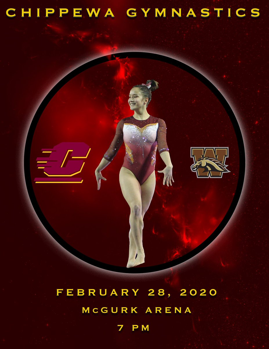 @CMUGymnastics is home in McGuirk tonight hosting that school from down south. Come out and support, be loud & fired up! 🔥☝🏼 #BeatWestern #FireUpChips #PackMcGuirk