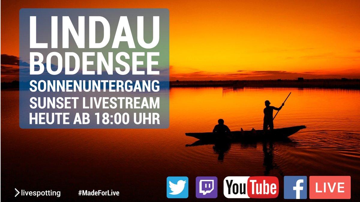 Heute um 18:00 Uhr den farbenfrohen Sonnenuntergang am Bodensee miterleben und das Wochenende einleiten! #livestream #madeforlive #bodensee #lakeconstance #sunset