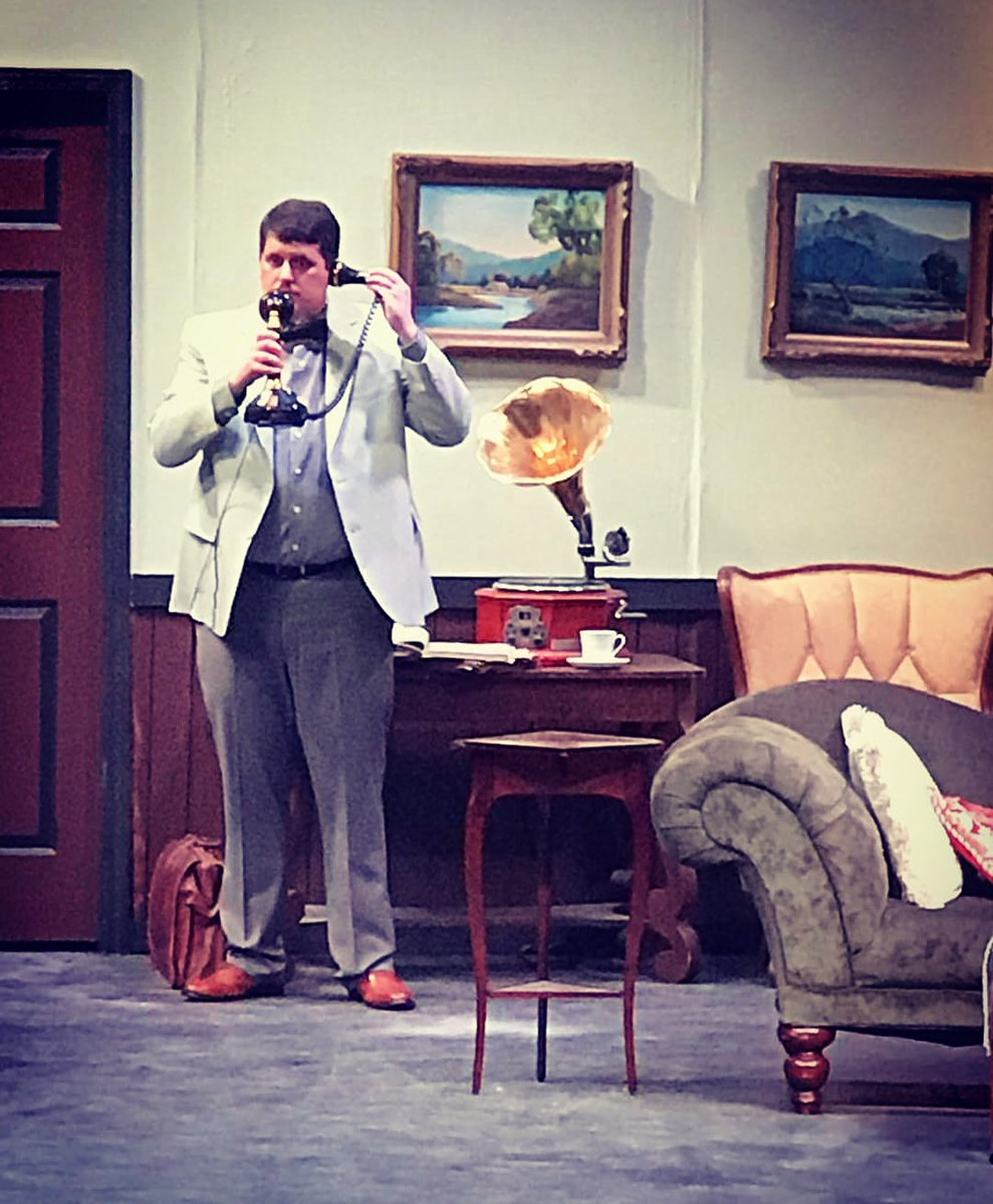 Hello? Yes, tonight is opening night. Come join us at CCT for Agatha Christie's Black Coffee. Runs this weekend and next. Go to http://cctshows.com  for more information and to make a reservation.