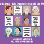 Image for the Tweet beginning: 8 de Marzo: Mujeres Visibles.