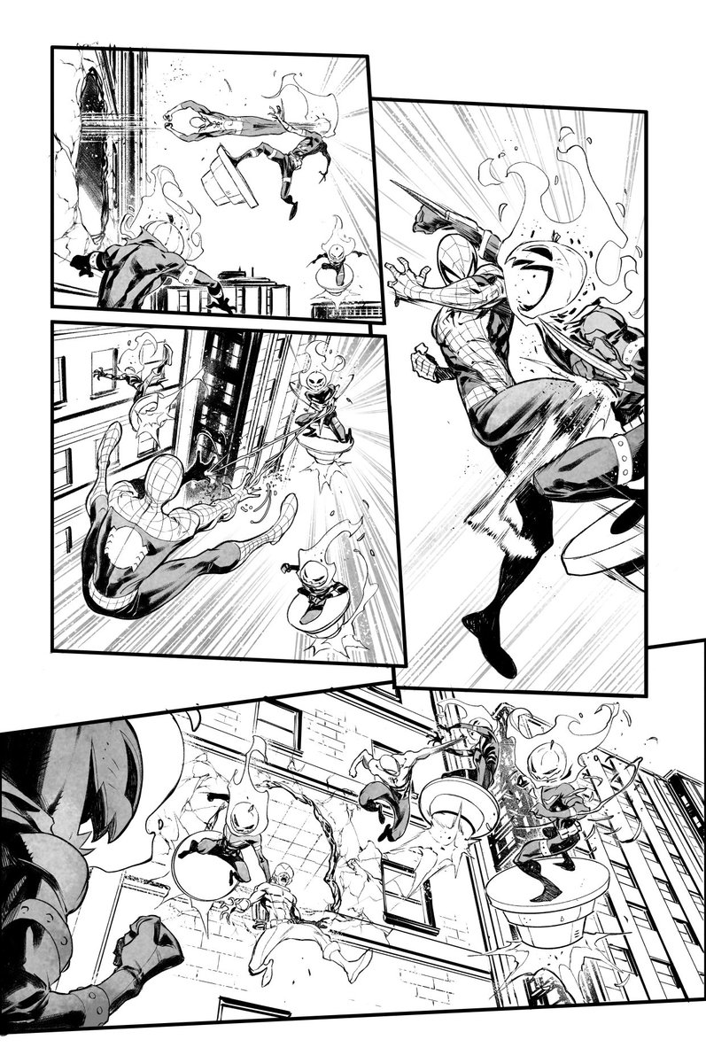 Punck! Smack! Kick! Thump! Etc... ASM#40 in stores! #marvel #marveluniverse #marveluniverse #inks #comic #art #picoftheday #pictureoftheday #twitterart