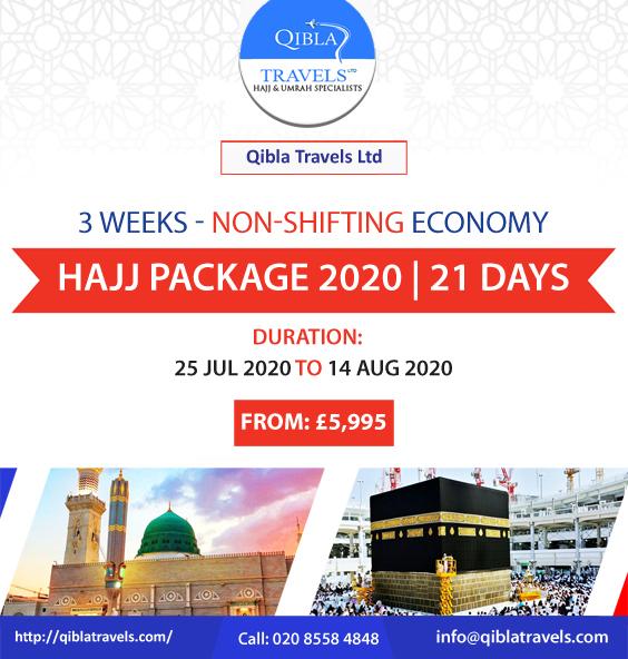 3 Weeks Economy Hajj Package (Non-Shifting) 2020. Book Now! No Azizyah - Direct Makkah Included: Hotels, Full Board in MINA, AC Tents in Arafat, Qurbani, Draft, Ziyarat included, Transport included, Hajj Visa, guidance included.  https:// bit.ly/2VvTZ2E     #Hajj #travelagency<br>http://pic.twitter.com/5Z708jDDvM