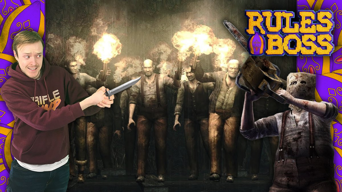 IT'S RULES BOSS TIME!  In this new Rules Boss video game challenge, Peter is tasked with fighting through Resident Evil 4's village prologue using his knife only.  https://www.youtube.com/watch?v=XkfpsfypPY8 …pic.twitter.com/0UM5DE454S