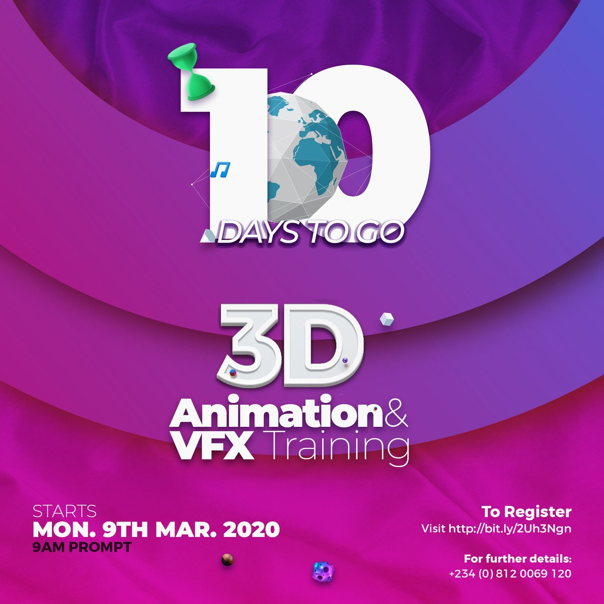 It's only 10 days away!  Hurry and register right now, right here!➡️➡️➡️  Join the winning team!  Tell a friend to tell a friend! 😉  #3d #3dmodelling #3DAnimation #3dcharacter #3ddesign #3dmodels #3danimator #blender3d