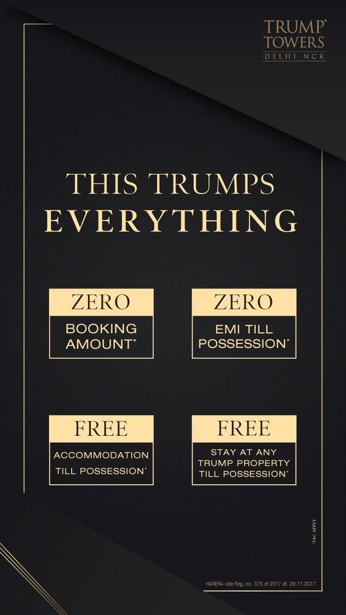 TRUMP TOWERS !  Location: Golf Course Extension, Gurugram.  Contact: +91-7042772403.  #Trump #TrumpTowers #Gurgaon #Gurugram #DelhiNCR #Luxury #Property #RealEstate #Apartment #Investment #DeepakEstate #Golf #News #GolfCourseExtension #M3M #Tribeca #RERA #Olive #Residentialpic.twitter.com/EYBNuwiszx