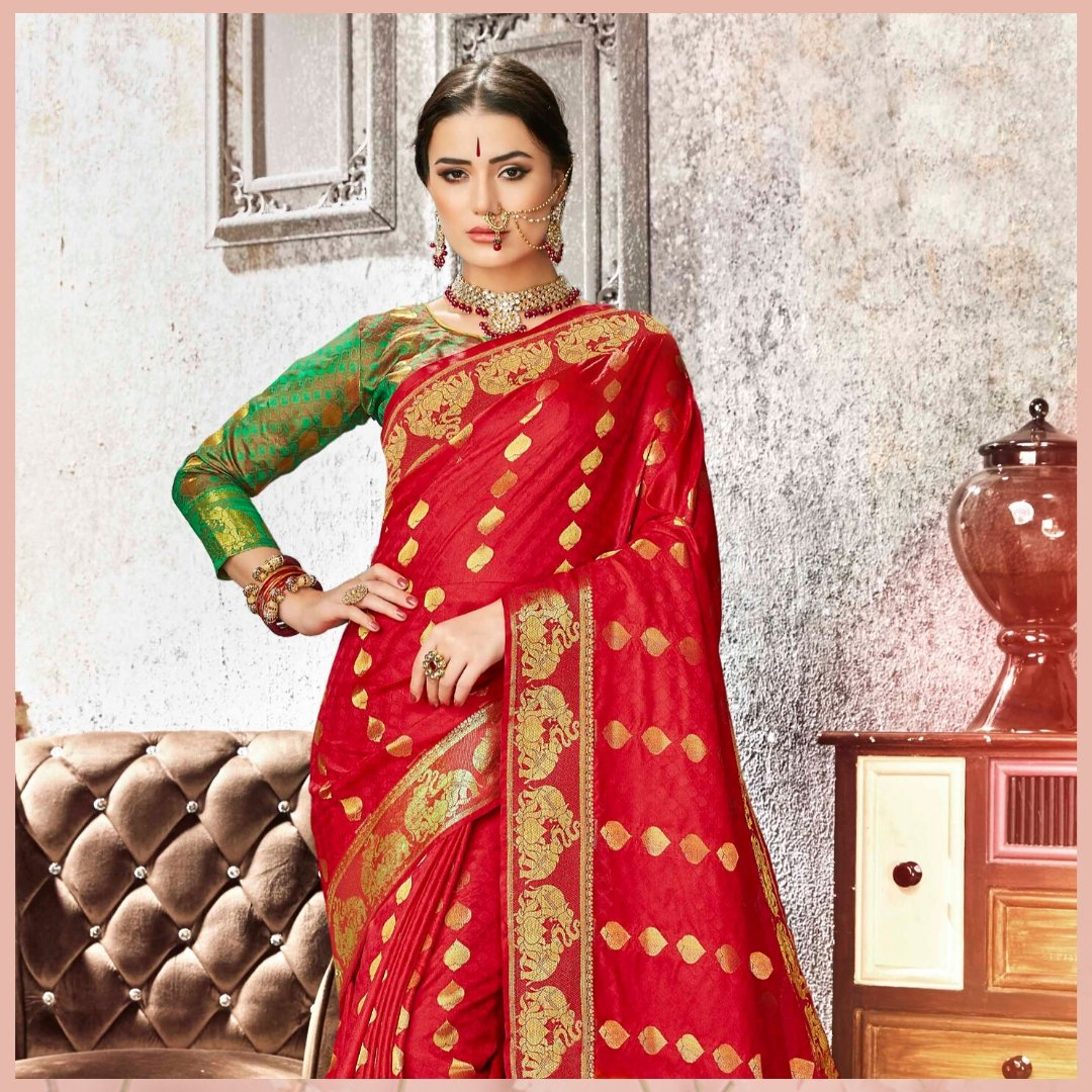 Shop this Red Designer Kanchipuram Art Silk Saree from @mirraw  and get up to 80% off. Product ID - 3120868 Product details & price - http://bit.ly/397qh86 . . #ClassicSale #RelivIndia #Trendy #Kanchipuram #Silksaree #Mirrawstyle #Ethnicwear #Mirrawpic.twitter.com/0F8HDDNpbI