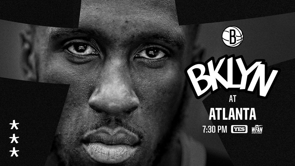 ⚫️⚪️ Friday Night Hoops ⚪️⚫️  🆚 | @ATLHawks   📍 | Atlanta 🕢 | 7:30PM ET 📺 | @YESNetwork   📻 | @WFAN660   #WeGoHard