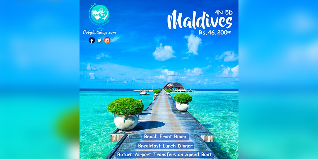 Book Maldives tour package at just Rs. 46,200 per person with #GoByHolidays  #GoByHolidays #GoBy #GoByGreen #honeymoon #travel #love #vacation #wedding #bali #holiday #lanadelrey #travelgram #paradise #teammyseffa #wanderlust #beach #instatravel #travelphotography #borntodie