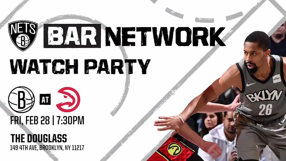 🍻 We got another watch party in the borough tonight!  🍻 Come through @TheDouglassBK to watch us face the Hawks! 🍻 DJ, Team Hype, raffles, offers, giveaways and more!  http://BrooklynNets.com/BarNetwork