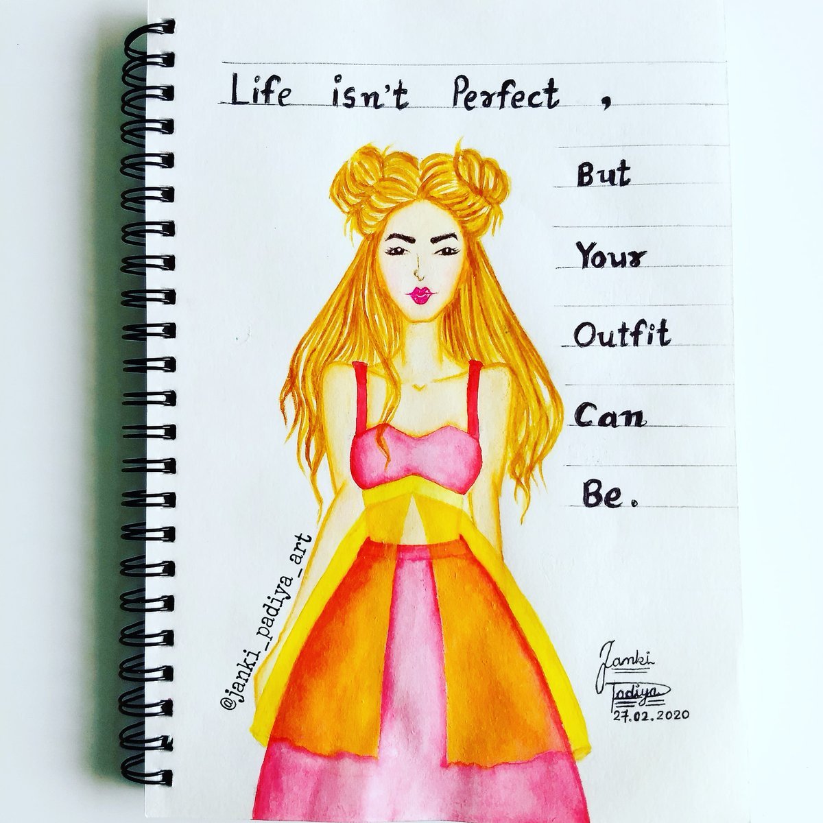 #fashiongirl #fashionillustration ❤️ . #fashion #girl #fashionblogger #styleblogger #style  #fashionphotography  #illustration #hairstyle #art #artoftheday #artphotography #quote #quoteoftheday #handlettering #lettering #artistsoninstagram #follow . #jankipadiyaart
