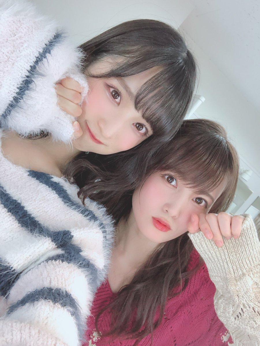 本日は…NHK「RAGAZZE!」に出演させていただきました✨AKB48の歴史を感じるセトリになっています!!新曲も歌わせて頂きました😆是非観てくださいっ!りんちゃんと、、萌え袖〜!🐑💓#ラガッツェ#AKB48#萌え袖#もこもこ#ゆいりん