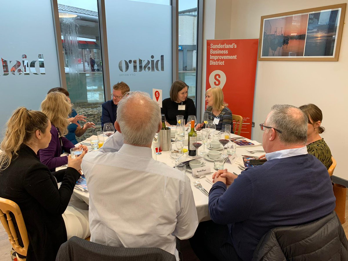 Members of our team and guests enjoying  @SunderlandBID's Professional Services lunch at the fabulous @_CityBistro.  Great speaker as always with  @jennybcampbell, Entrepreneur, award winning businesswoman and former Dragon in the Den taking to the floor this time.  #Sunderland