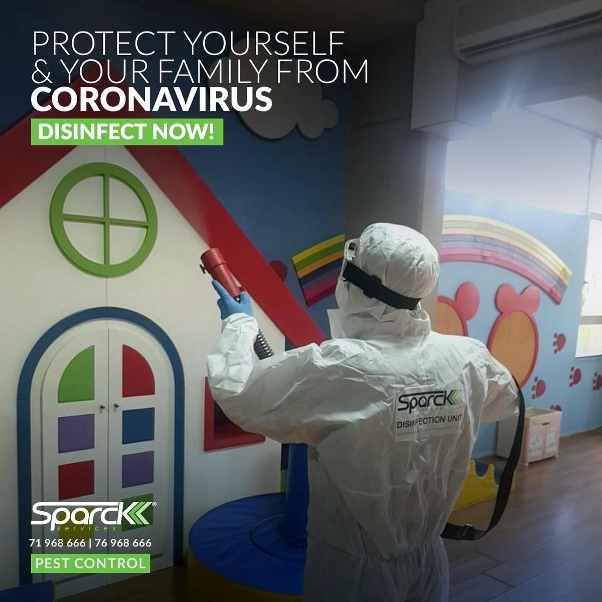 #H1N1 #coronavirus #Disinfection #family #sparck_services #schools #kindergarten #hospital #healthy #baby #photo #gym #homes #offices #garderie information visit:  #like4like #follow #me on  To #get your #offers #contact 76968666