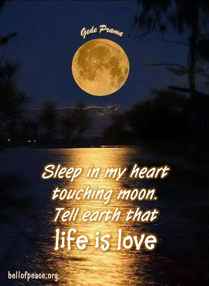 Sleep in my heart... #gedeprama #bali #beauty #happy #healthy #holy #innerharmony #JoyTrain   Photo courtesy: Pinterest