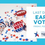 Image for the Tweet beginning: #EarlyVoting ends TODAY! Don't miss
