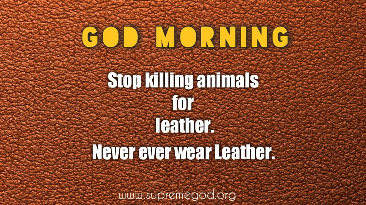 #GodMorningFridayLeather is used for Fasen, which is made from the skin of animals, so that the creator and the wearer also commit sins.For more information, see Sadhana TV 7:30 to 8:30@PMOIndia @Zee_Hindustan @YouTube @aajtak @news18 @Daliynews4