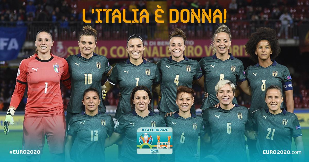 LItalia è #donna!♀️ Buona festa della donna a tutte le nostre tifose #Azzurre e alle nostre @AzzurreFIGC! @euro2020 #EURO2020 #RomaEuro2020 @FIGCfemminile #festadelladonna #IWD2020 @FIGC @Vivo_Azzurro