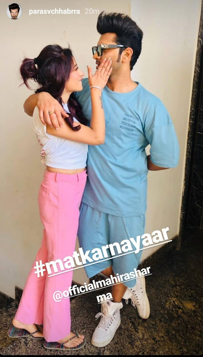 For me this is the best thing on internet today #Paraschhabra #Mahirasharma #Pahira #Couple_goals @paras_chhabra @officialmahira2pic.twitter.com/oKG8WDx2YW