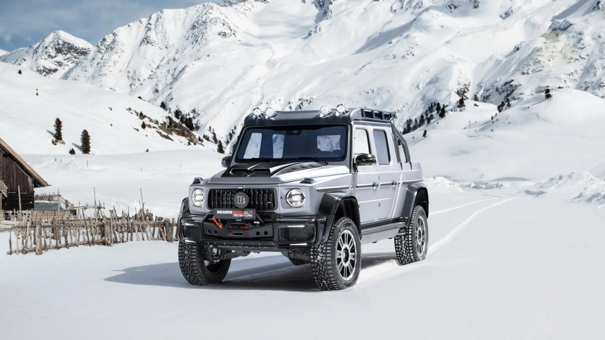 This Brabus G-Wagen is ready for a UK snow day. Get really clicky with the configurator and Brabus will fit a 'Wingcopter' on the back, too → https://www.topgear.com/car-news/geneva-motor-show-2020/brabus-g-wagen-ready-uk-snow-day …pic.twitter.com/bUkmbWt6a7