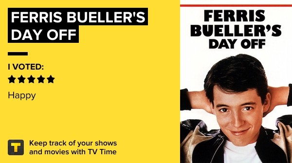 #Amazing #FerrisBullersDayoff  Ferris Bueller's Day Off on TV Time