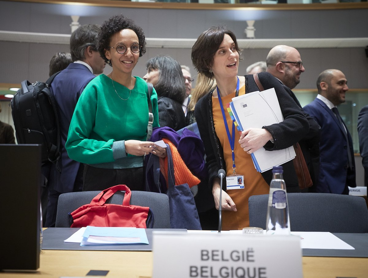 👉 At the 2nd day of the #COMPET Council, 🇧🇪 Minster @barbaratrachte was present @EUCouncil.  👉 Today's meeting focused on #Research 🔬 & #Innovation💡, more precisely on the Strategic Innovation Agenda of the EU Institute of Innovation & Technology + international cooperation.
