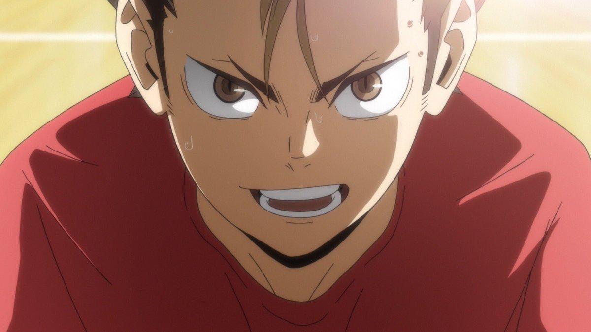 """日付変わってこの後25:25より、MBS/TBS系全国28局ネット""""スーパーアニメイズム"""" 枠にて、TVアニメ『ハイキュー!! TO THE TOP』第8話「チャレンジャー」が放送です!!春高本番へ向けメンバーそれぞれレベルアップをはかります!#ハイキュー #hq_anime"""