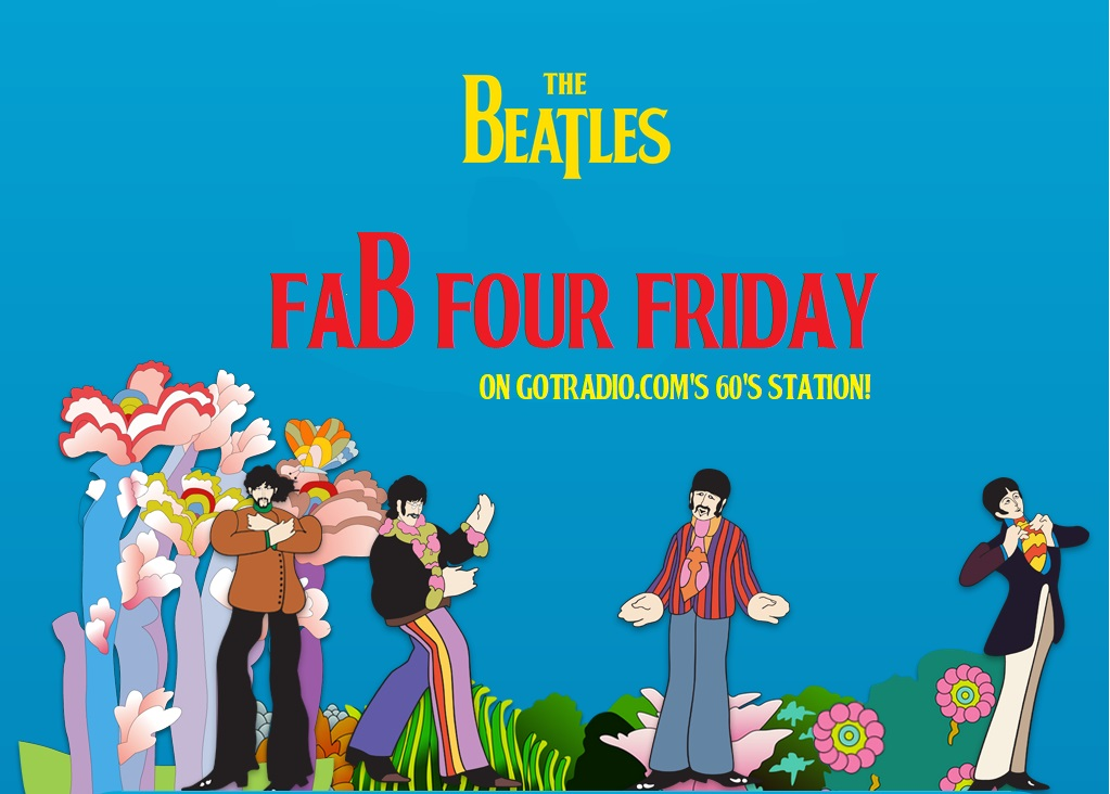 It's FAB FOUR FRIDAY on Got Radio's 60s station!  We begin every hour with 4 BEATLES songs! Listen here:  http://player.gotradio.com/?autoplay=30 #Beatles #FabFour #GotRadio #FabFourFridaypic.twitter.com/MR4z7tmlGB
