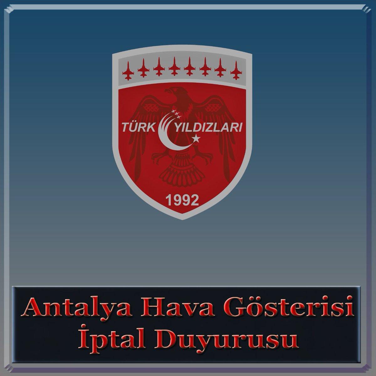01 Mart 2020 Pazar günü Antalya'da icrası planlı faaliyetimiz iptal edilmiştir. #antalya #TürkYıldızları #turkyildizlari #vatan @antalya1207 @AntalyaValilik https://t.co/0yhEVdkh3M