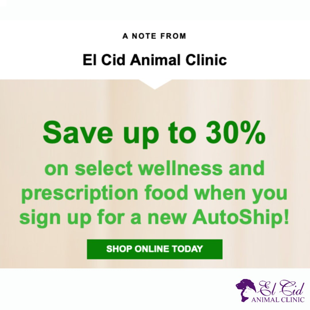 Check out our #online #pharmacy! We have amazing promotions going on! Get started, here:  #ElCidAnimalClinic #Vet #PalmBeaches #dog #cat