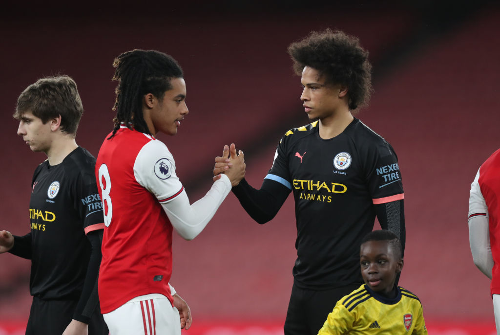 After injury, finally some minutes in the bank for Leroy Sane tonight.The German completed just under an hour of Man City's PL2 match at Arsenal.#MCFC #bbcfootball