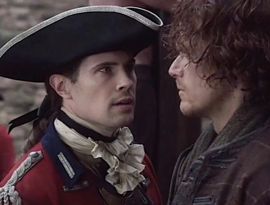 """""""Don't test me, Mr. Fraser!"""" #davidberry #lordjohngrey #jamiefraser #samheughan #Outlander"""