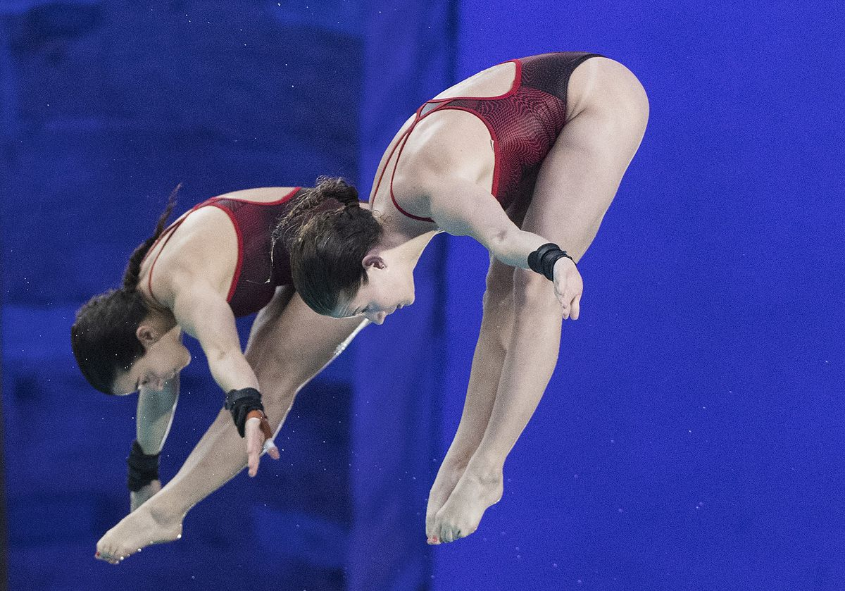 Canadian divers Meaghan Benfeito and Caeli McKay win World Series gold @Globe_Sports