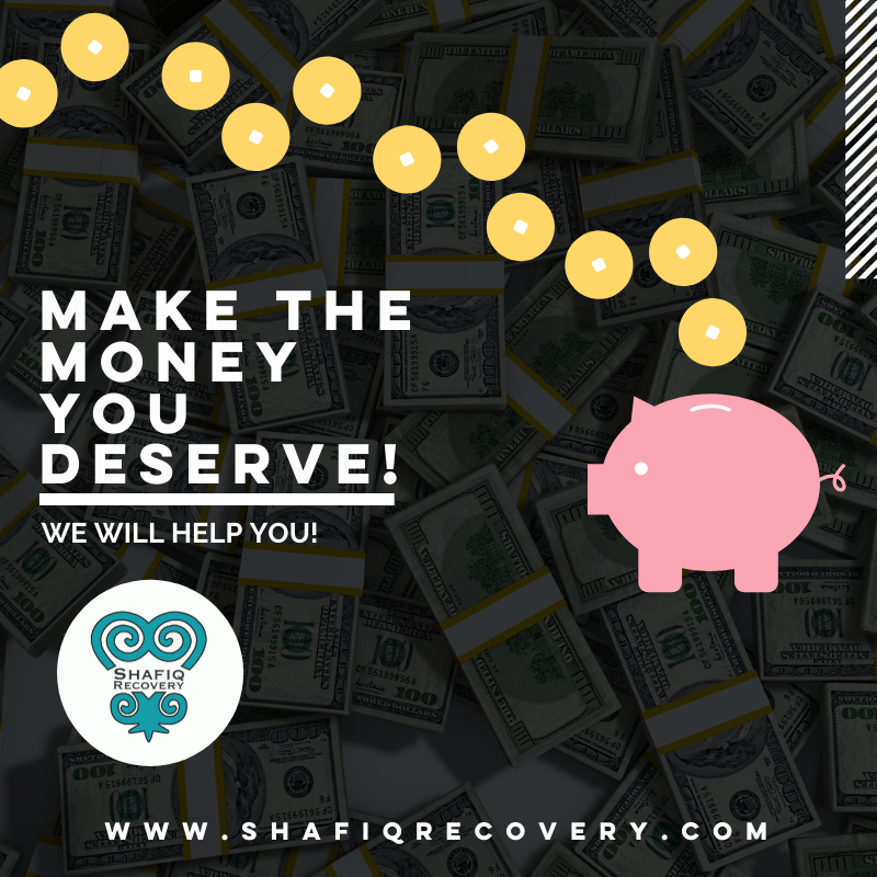 Get the extra money you deserve today!  Ask us how at http://www.shafiqrecovery.com  #moneymoves #moneytalks #moneymoneymoney #moneymaker #moneymotivated #moneymindset #moneymatterpic.twitter.com/SU2PNq74U3