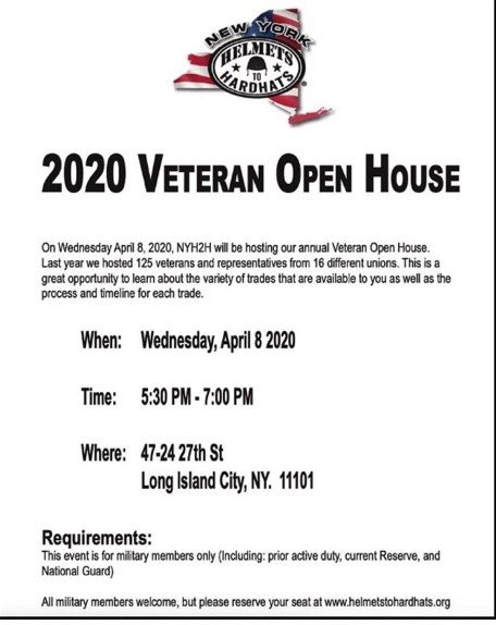 Helmets to Hardhats recruitment 4/8/20 if you're a vet in need of a career don't miss this pic.twitter.com/FDQdEQjW45