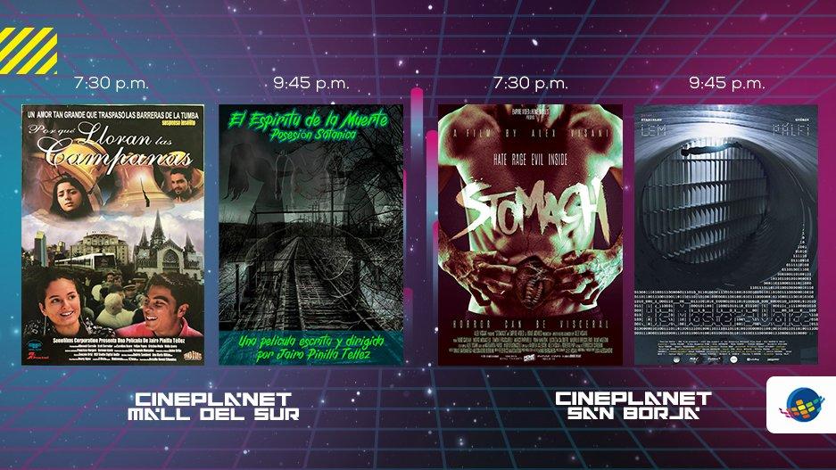 Hasta el 1 de marzo sigue disfrutando del Festival Insólito 2020 con las mejores películas de terror y fantasía 👻 en Cineplanet San Borja y Mall del Sur. 🎬  ¡ÚNICAS FUNCIONES! Mira la programación de HOY y compra tus entradas A PRECIO DE MARTES aquí 👉 https://t.co/12l221XgY4 https://t.co/U3QSfhBqb5