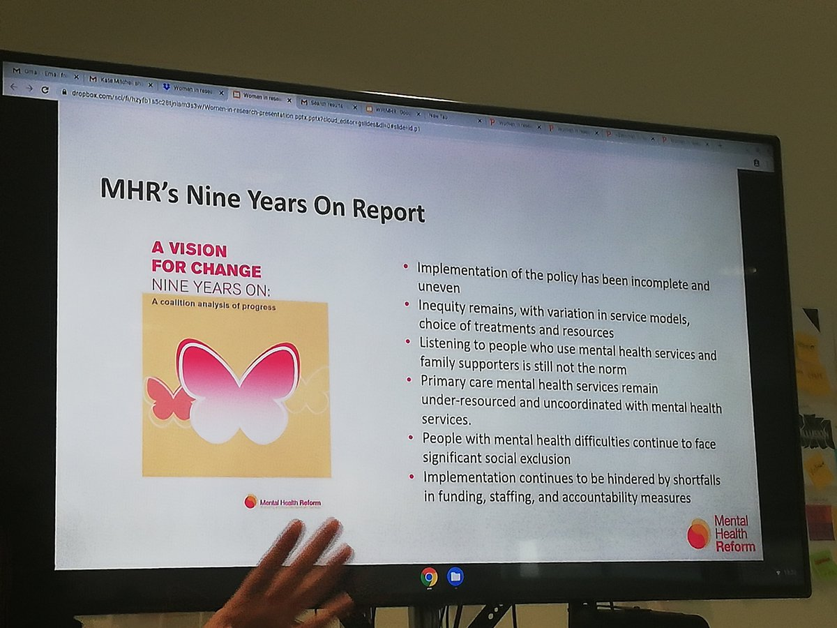Biggest flaw in a Vision for Change report 9 years on is lack of implementation @MHReform @SciGalleryDub