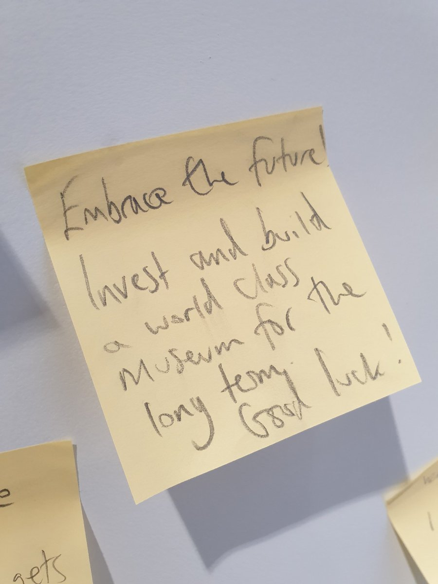 What a wonderful and uplifting comment of the day from @railwaymuseum Central Hall design exhibition. #future #worldclass. Come and see the designs for yourself in our Great Hall! pic.twitter.com/5lY8RYVPm7