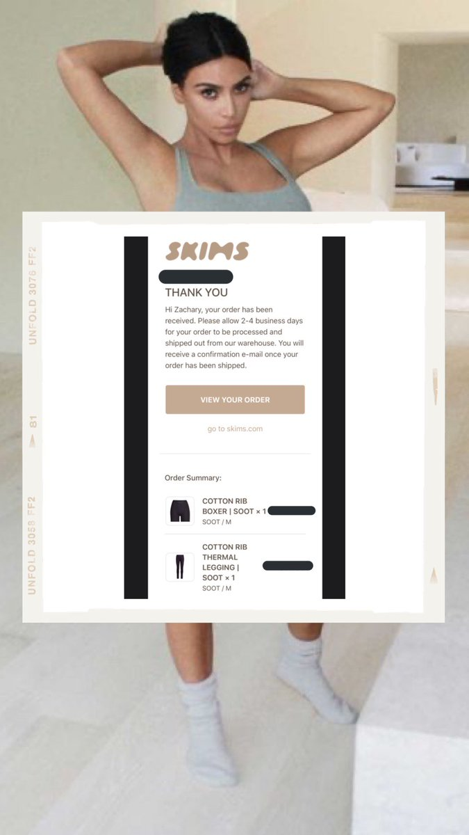 I am so excited for this. My order for the @skims cotton collection has been placed. It looks so comfy, and I've heard nothing but good reviews! Kim never lets me down 🤍 @KimKardashian #SKIMS