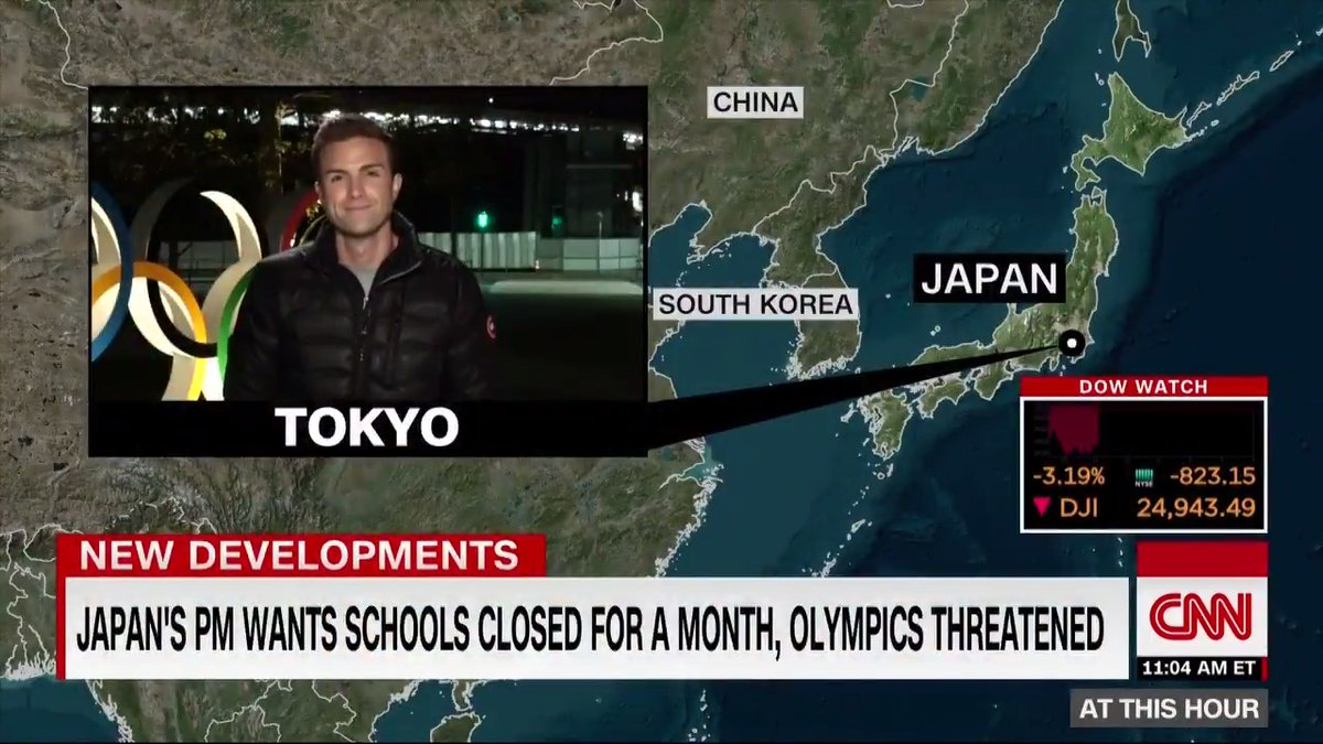 Japan's prime minister is asking all schools to close until the end of the month amid the coronavirus outbreak as the country continues preparations for the Tokyo Olympics, @Blake_essig reports. http://cnn.it/388ijde