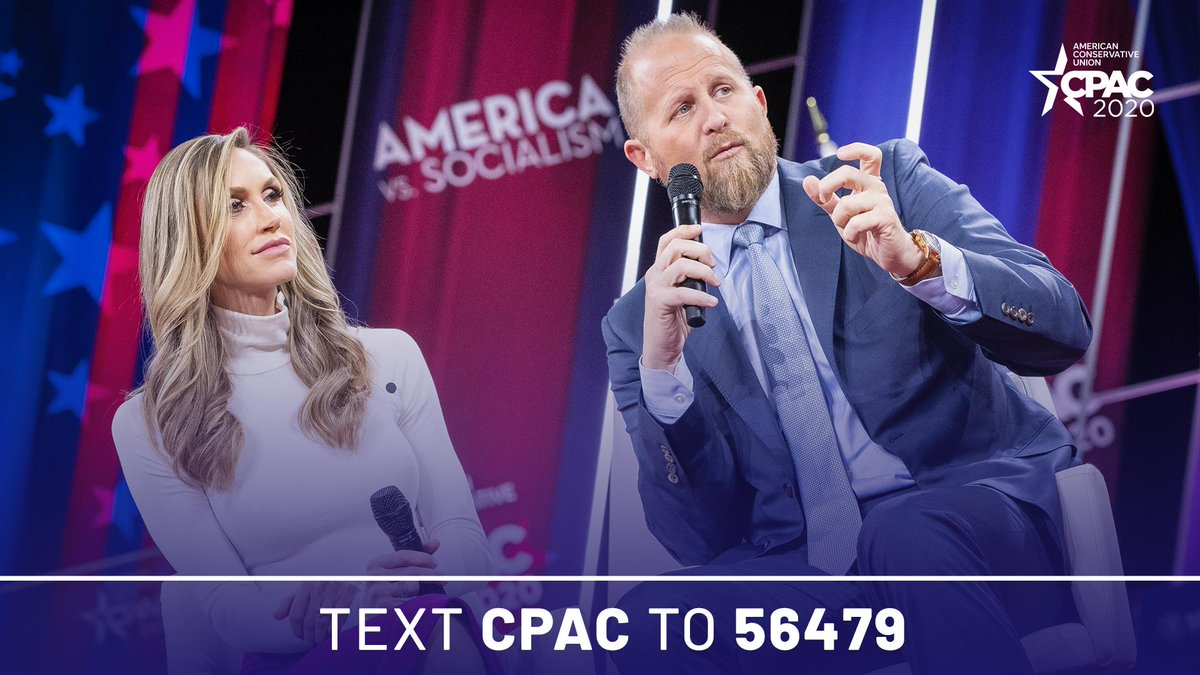 Thank you @parscale and @LaraLeaTrump for joining us at #CPAC2020! #AmericaVsSocialism #LeadRight