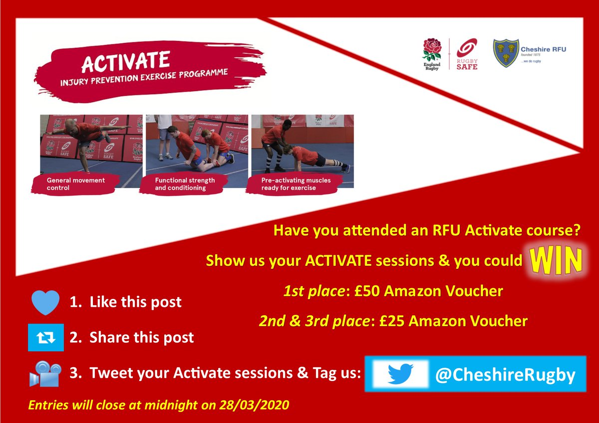 test Twitter Media - 🤩Let's see what you've got!    Follow steps 1⃣2⃣3⃣ to enter✨  ⏳entry closes on 🗓️28th March  📨Please get in touch if you would like an Activate course at your club and/or some support delivering Activate with your players   #Activate #RugbySafe https://t.co/mz7kctlkJf