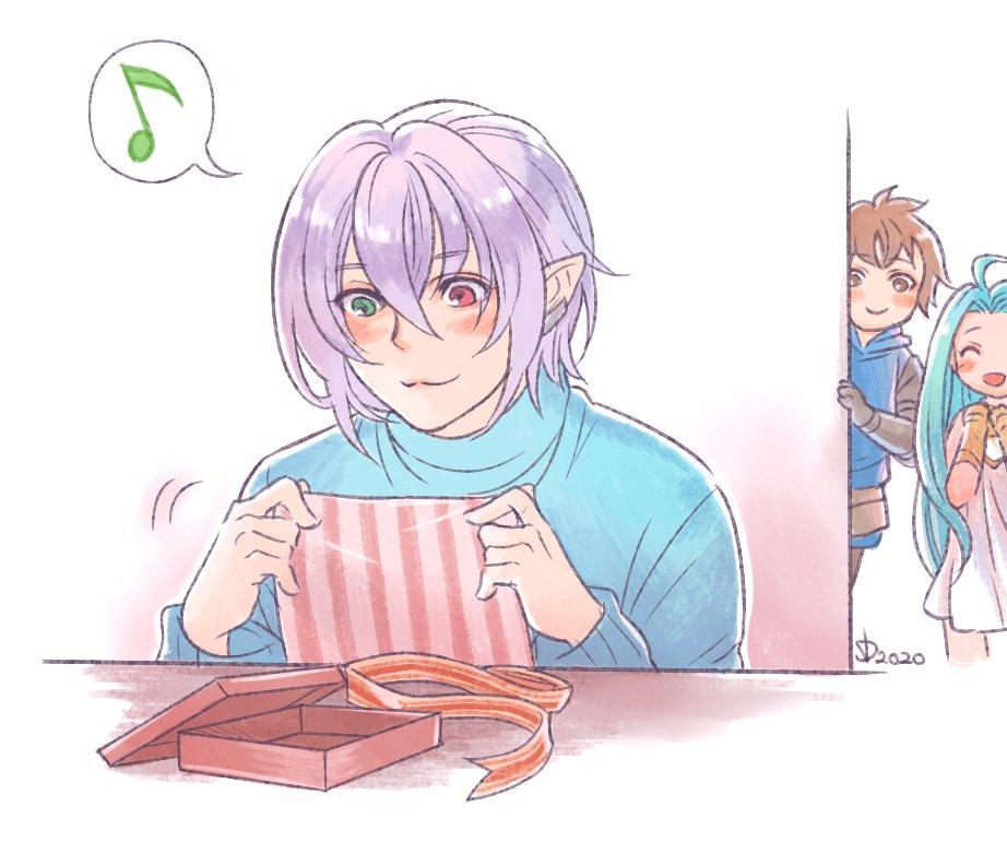 Valentine's day is over, I guess Grimnir would treasure the box and wrapping of the (200 rupies) chocolate Danchou gave him <br>http://pic.twitter.com/5H6bFFo943