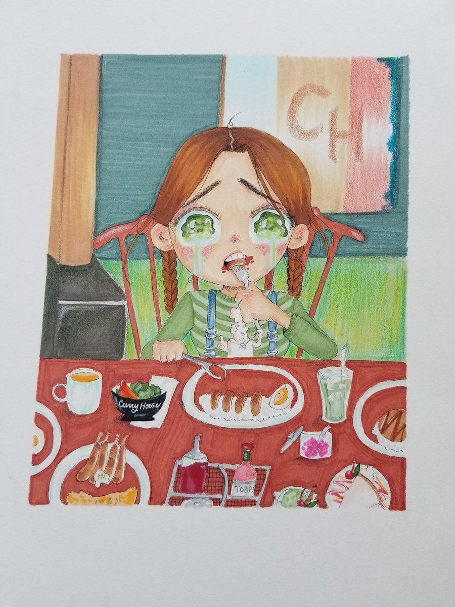 #curryhouse #rip #curryhouselittletoyko #eating #food #drawing #art #man_die_chibi