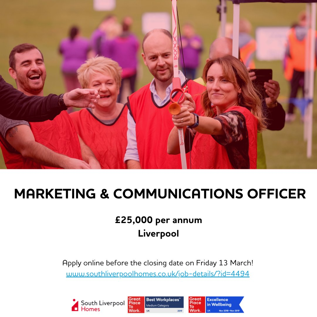 Are you passionate about marketing and communications? Do you have a flair for creativity? Ready for a new challenge in an innovative, people focused organisation? If the answer is yes, apply today! ow.ly/FGL350yyJhu