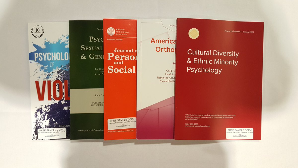 Stop by the APA Publishing booth to grab free journal copies and learn about our publishing resources and tools! #SPSP2020<br>http://pic.twitter.com/Iiwd2UYJCR