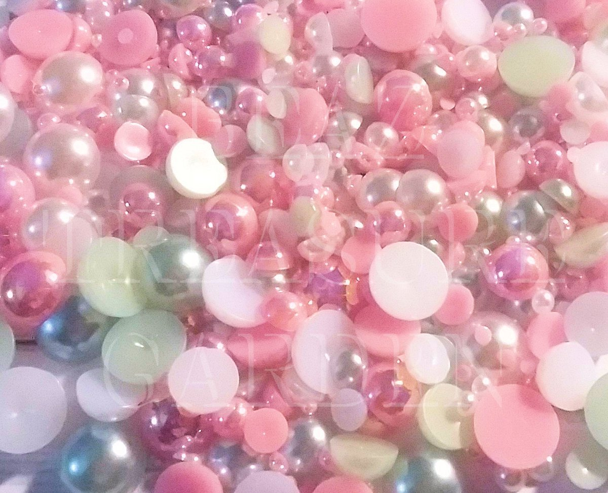 Excited to share the latest addition to my #etsy shop: Mixed Sizes Colors 1000 Pieces 2/3/4/5/6/8/10mm Diy Bling Pink/Light Blue/White Flat Back Pearls Mixture  #supplies #black #hatmakinghaircrafts #craftsupply #phonedecoration #charmadditive #r