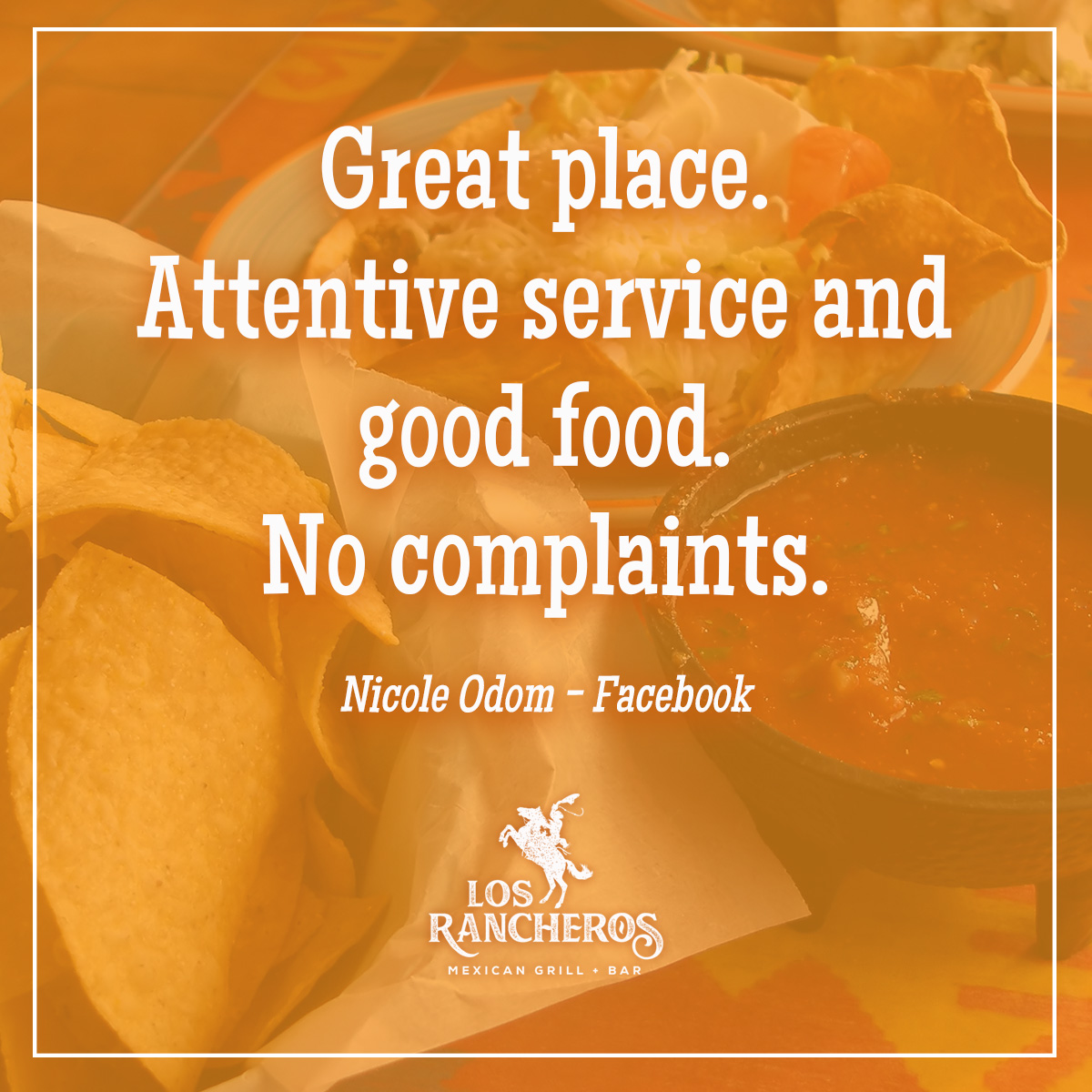 Come see us for attentive service and good food!  #HappyHour every day at our #PCB location! 241 #Margaritas | 3-7 pm & 9pm-Close! • • • • • #losrancheros #losrancherospcb #panamacityfl #panamacitybeach #mexicanfood #mexicanrestaurant #tacos #burritos #testimonial