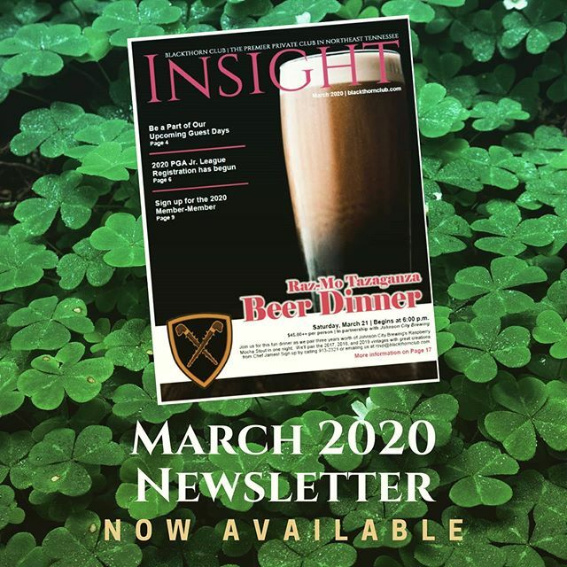 The March issue of INSIGHT is now available. Copy the hyperlink below into your browser to access this month's issue and find out about all the happenings going on at Blackthorn Club!    #tricities #johnsoncitytn #jonesborough #kingsport #tennessee #black…