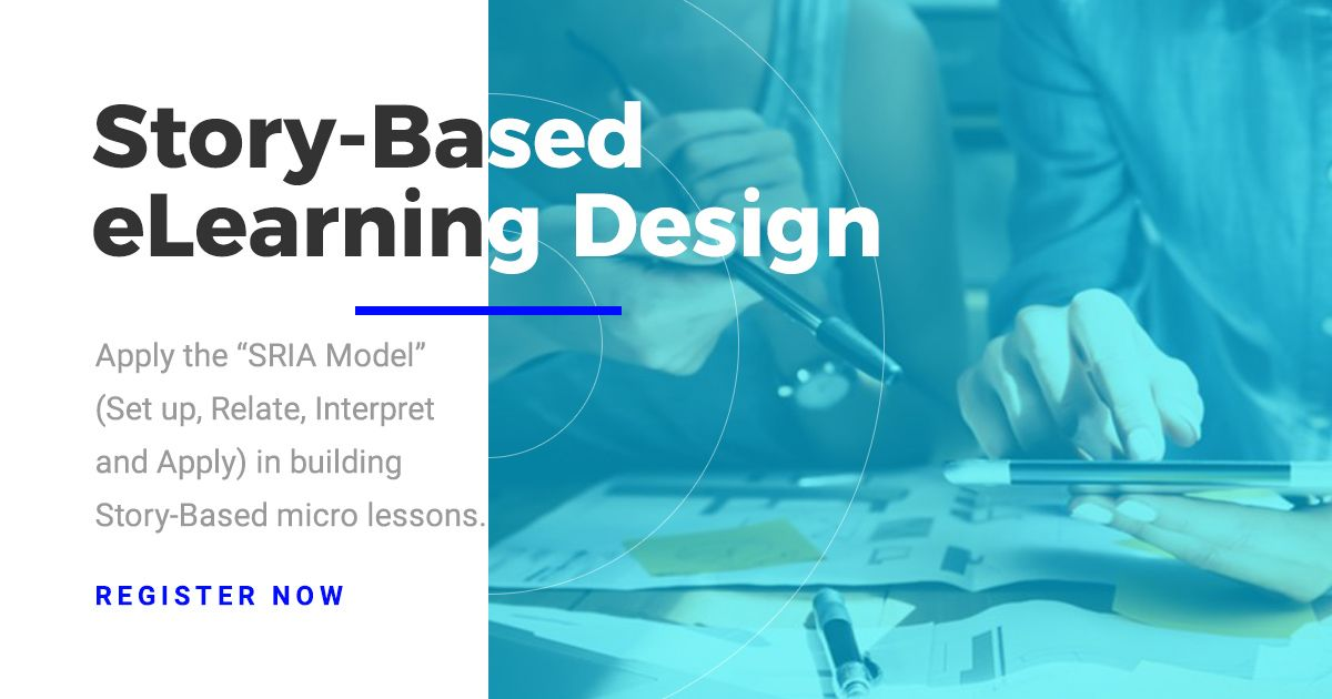 Learn the art, and up your eLearning Design skills with our upcoming Story-Based eLearning Design Workshop. Contact us for a group discount! https://buff.ly/39bUkLu #elearning #instructionaldesign #learninganddevelopment #FridayFeeling #FridayMotivation #StoryBased #getinspired